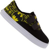 Tênis Liga Da Justiça Batman Logo - Infantil - Preto/Amarelo