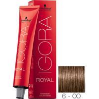 Coloração Schwarzkopf Igora Royal 6-00 Louro Escuro Natural Extra 60G