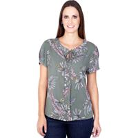 Blusa Love Poetry Viscose Floral Verde