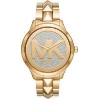 Relógio Michael Kors Runway Mercer Feminino - Feminino-Dourado