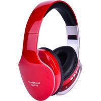 Fone De Ouvido Bluetooth Sn18 - Vermelho
