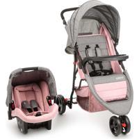 Carrinho Para Bebê Tirável System Duo Jetty Rosa Cosco - Tricae