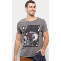 Camiseta Bossa Brasil Rosa Masculina - Masculino-Cinza