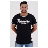 Camiseta Mitchell Ness Nfl Oakland Raiders Logo Preta