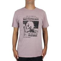 Camiseta Billabong Iggy Pop Iguana - Masculino-Rosa