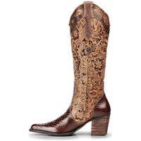 Bota Country Texana Em Couro Capelli Boots Marrom