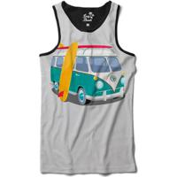 Regata Long Beach Kombi Sublimada Masculina - Masculino-Cinza
