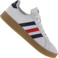 Tênis Adidas Grand Court M - Masculino - Branco/Azul Esc