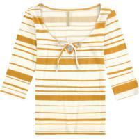 Blusa Malha Canelado Sevilha Amarelo