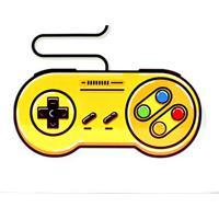 Placa De Metal Control Nintendo - Zona Criativa
