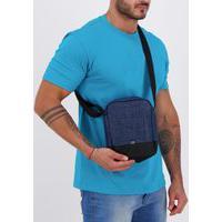 Bolsa Puma S Portable Azul E Preta