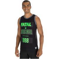 Camiseta Regata Fatal Estampada 23686 - Masculina - Preto