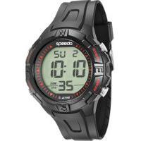 Kit De Relógio Digital Speedo Masculino + Carregador Portátil - 81095G0Evnp2Ka Preto