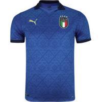 Camisa Seleção Da Itália I 20/21 Puma - Masculina - Azul
