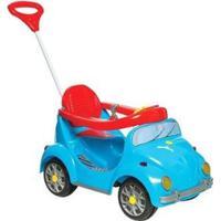 Carrinho De Passeio Infantil A Pedal 1300 Fouks Com Empurrador Emite Sons - Unissex-Azul