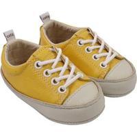 Tênis Infantil Couro Catz Calçados Noody Cadarço - Unissex-Amarelo