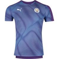Camisa Pré-Jogo Manchester City 19/20 Puma - Masculina - Roxo/Azul