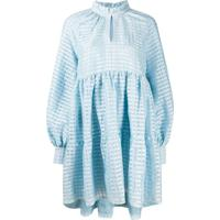 Stine Goya Vestido Jasmine Xadrez - Azul