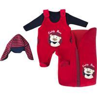 Saída De Maternidade Letícia Enxovais Puro Amor Teddy Bear Vermelho