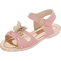 Sandália Bebê Plis Calçados Alegria Feminina - Feminino-Rosa