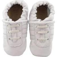 Pantufa Catz Calçados Infantil Couro Angel - Unissex-Branco