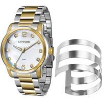 Kit Relógio Feminino Strass Lince Lrt4391L K192B2Ks