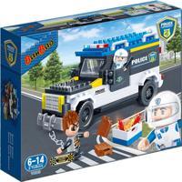 Blocos De Montar Carro De Policia - Banbao