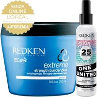 Redken One United + Soft Heavy Cream - Leave-In + Máscara De Reconstrução Kit - Unissex-Incolor