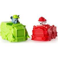 Mini Veículos - Patrulha Canina - Pack Com 2 Carrinhos - Marshall E Rocky - Sunny