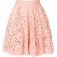 Dolce & Gabbana Saia Godê Com Renda - Rosa