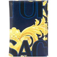 Versace Jeans Couture Porta-Cartão Com Logo E Estampa Barroca - Azul