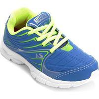 Tênis Infantil No Stress Jogging Masculino - Masculino-Azul Royal