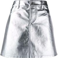 Paco Rabanne Metallic Mini Skirt - Prateado