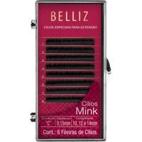 Cílios Para Alongamento Belliz - Mink C 015 Mix 1 Un - Feminino-Incolor