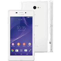 "Smartphone Sony Xperia M2 D2306 Branco - 8Gb - Tela 4.8"" - Android 4.3"
