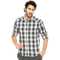 Camisa Forum Xadrez Cinza/Branco