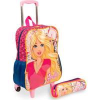 Kit Barbie 13M Infantil Sestini - Mochilete + Estojo - Feminino-Rosa