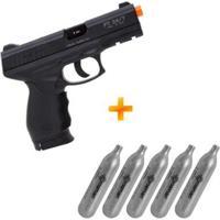 Pistola De Airsoft A Gás Co2 Pt24/7 Cybergun + 5 Cilindros Co2 - Unissex