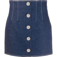 Giuseppe Di Morabito Embellished Button Mini Skirt - Azul