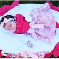 Saída De Maternidade Menina Carinhosa Sônia Enxovais Princesa Helena Pink