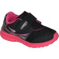 Tenis Ortope Dna Flex 292069 Infantil - Feminino-Preto+Pink