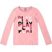 """Blusa """"Play""""- Rosa & Brancahering"""