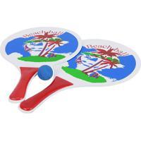 Kit Frescobol Le 348185 Vermelho