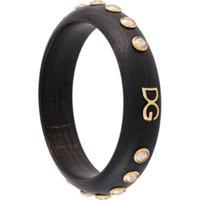 Dolce & Gabbana Pulseira Com Aplicação De Cristais - Preto