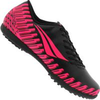 Chuteira Society Penalty Storm Speed Ix Tf - Adulto - Preto/Rosa