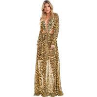 Vestido Longo Leopardo Amarelo Lala Dubi