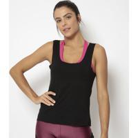 Regata Com Vazados- Preta- Physical Fitnessphysical Fitness