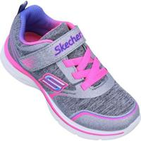 Tênis Skechers Kids Dream Ndash Peppy Prance Feminino - Feminino-Cinza+Rosa