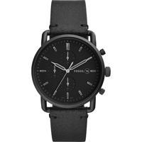 Relógio Cronógrafo Fossil Masculino - Fs5504/0Pn Preto