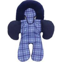Apoio De Corpo Reversível Para Bebê Conforto Xadrez Azul